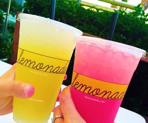 lemonade, drink, and pink image