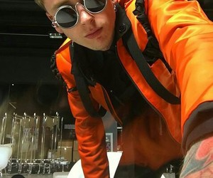 ️mgk, glasses, and lace up image