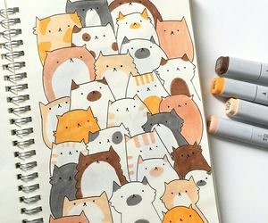 cat, kawaii, and draw image