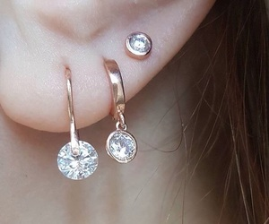 accessories, diamond, and earring image
