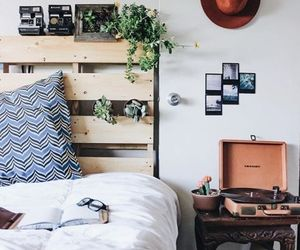 room, bed, and decoration image