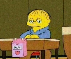 ralph, sad, and the simpsons image