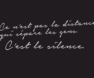 french, quote, and silence image