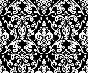 background, black, and damask image