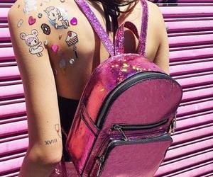 pink, sticker, and unicorn image