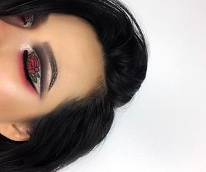 makeup, girly, and hair image