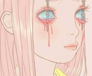 pink, kawaii, and creepy image