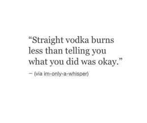quote, black and white, and vodka image