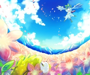flowers, pink, and pokemon image