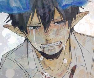 anime, boy, and blue exorcist image