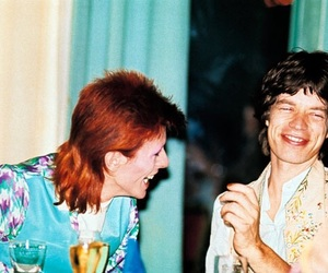 david bowie, mick jagger, and music image