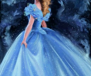 art, blue, and cinderella image