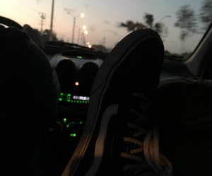 black, car, and shoes image
