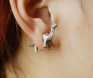 dinosaur, ear, and dinosour image