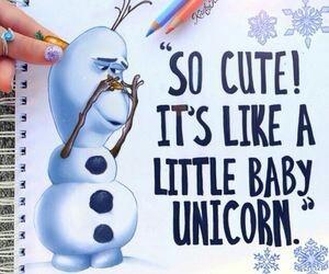 olaf, frozen, and unicorn image