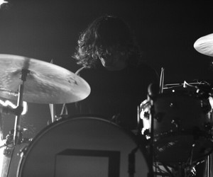 black and white, drums, and the neighbourhood image