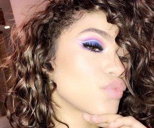 zendaya, makeup, and snapchat image