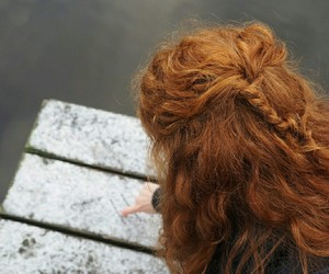 ginger, hair, and hairstyle image