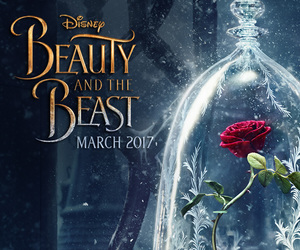 beast, beauty, and rose image