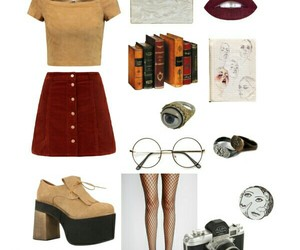 books, outfits, and Polyvore image