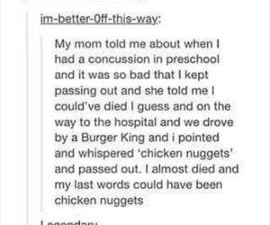 funny, tumblr, and chicken nuggets image