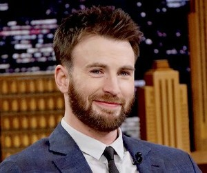 chris evans and smile image