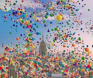 balloons, city, and nyc image