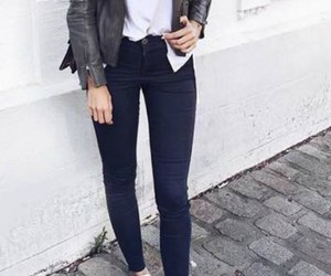 jacket, casual, and denim image