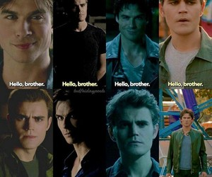 brother, damon, and tvd image