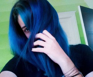 beauty, blue, and colored hair image