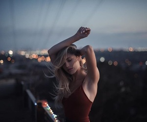 party, girl, and rooftop image