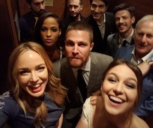 arrow, the flash, and Supergirl image