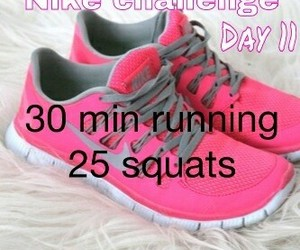 nike challenge, nike, and fitness image
