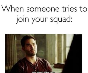 teen wolf, squad, and funny image
