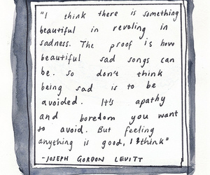 quote, Joseph Gordon-Levitt, and sad image