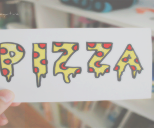 3d, pizza, and food image