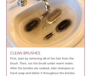 Brushes, hair care, and tips image