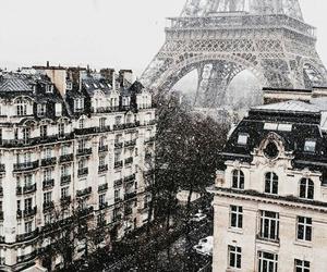 paris, city, and snow image