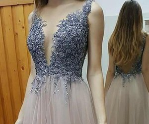 prom dresses, lace dresses, and long prom dresses image