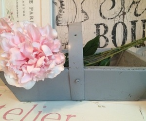 books, bouquet, and bridal image