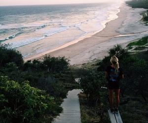 girl, amazing, and beach image