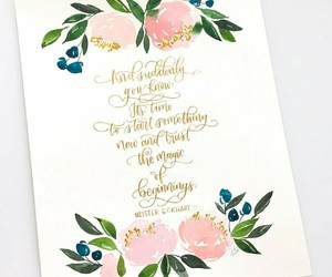 colors, quote, and flowers image