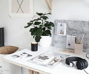 white, home, and desk image