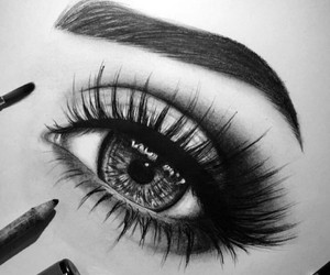 black, eye, and art image