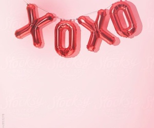 pink, xoxo, and balloons image