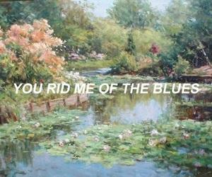 art, blues, and sad image
