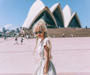 fashion, blonde, and cute image