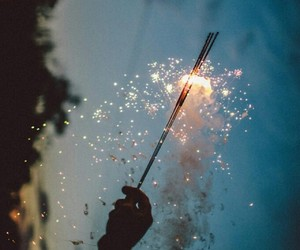 light, sparks, and wish image