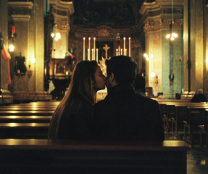 church, couple, and kiss image