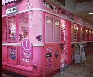 pink, stores, and places image